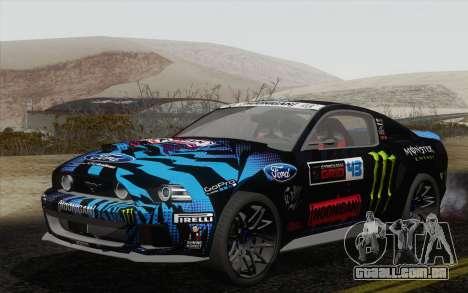 Ford Mustang GT 2013 para GTA San Andreas vista traseira