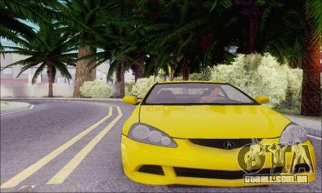 Acura RSX para GTA San Andreas traseira esquerda vista