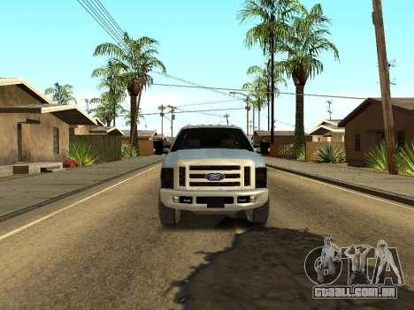 Ford Excursion para GTA San Andreas vista traseira