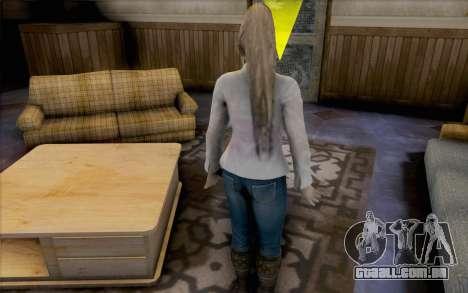 Sarah de Dead or Alive 5 para GTA San Andreas por diante tela