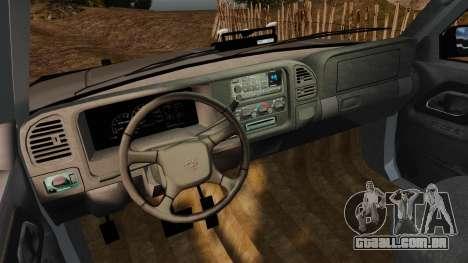 Chevrolet Suburban 1999 Police [ELS] para GTA 4 vista de volta