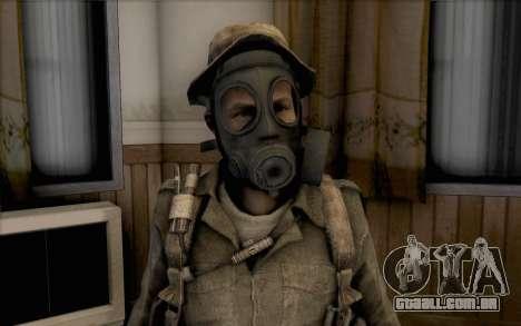 Capitão preço (com máscara) para GTA San Andreas