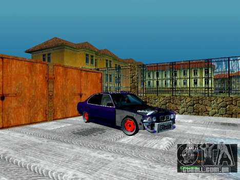 BMW 525i e34 Hobo para GTA San Andreas