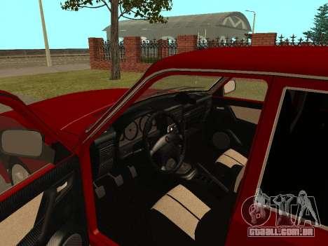 GAZ Volga 31105 para GTA San Andreas vista interior