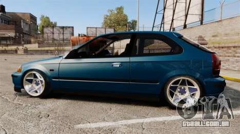 Honda Civic EK para GTA 4 esquerda vista