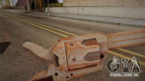Colt Peacemaker (cromo) para GTA San Andreas segunda tela
