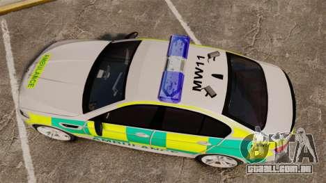 BMW M5 Ambulance [ELS] para GTA 4 vista direita