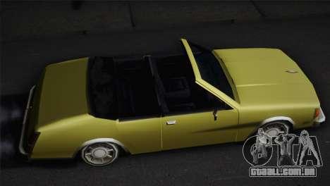 2 portas cabriolet, Washington para GTA San Andreas traseira esquerda vista