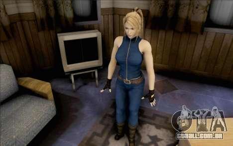 Sarah de Dead or Alive 5 para GTA San Andreas segunda tela