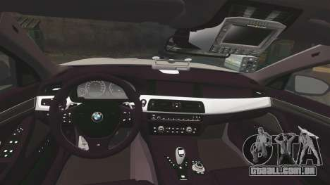 BMW M5 Unmarked Police [ELS] para GTA 4 vista lateral