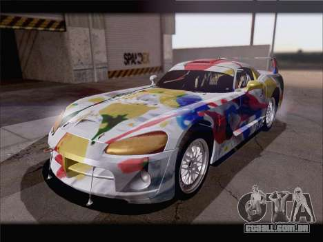 Dodge Viper Competition Coupe para GTA San Andreas vista inferior