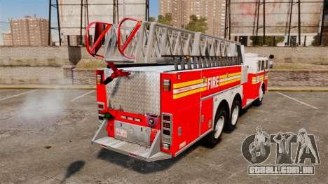 MTL Firetruck MDH1000 Midmount Ladder FDNY [ELS] para GTA 4 traseira esquerda vista