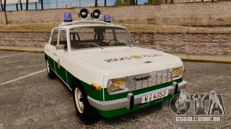 Wartburg 353 W Deluxe Polizei para GTA 4