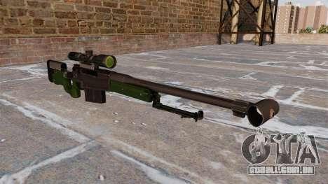 Rifle de sniper AW50F para GTA 4
