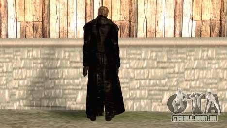 Albert Wesker na capa para GTA San Andreas segunda tela