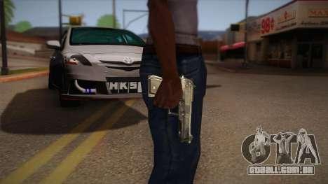 A arma fora o Max Payne para GTA San Andreas segunda tela