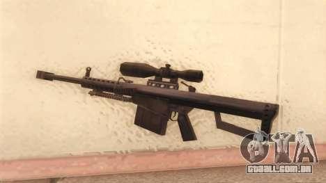 Barrett de Call of Duty MW2 para GTA San Andreas segunda tela