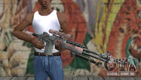 M14 EBR Red Tiger para GTA San Andreas terceira tela