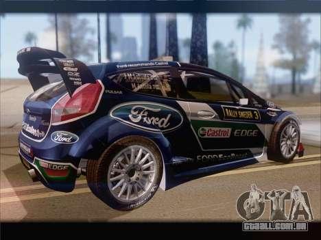 Ford Fiesta RS WRC 2013 para GTA San Andreas vista traseira