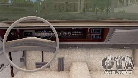 Chrysler New Yorker 4 Door Hardtop 1971 para GTA San Andreas traseira esquerda vista