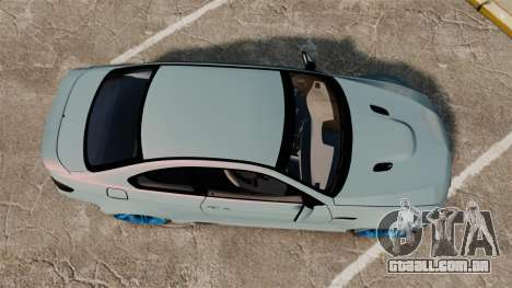 BMW M3 GTS Widebody para GTA 4 vista direita