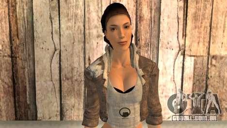 Alyx Vance de Half-Life 2 para GTA San Andreas terceira tela