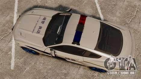 Ford Mustang GT 2015 Cheng Guan Police para GTA 4 vista direita