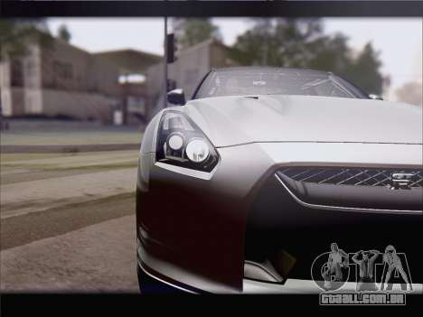 Nissan GT-R Spec V Stance para GTA San Andreas traseira esquerda vista