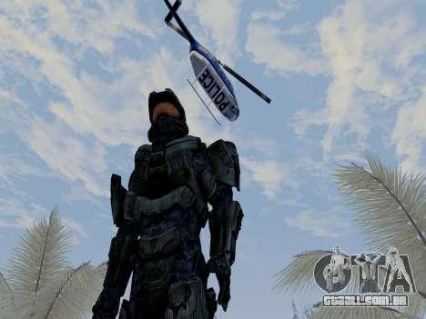 Master Chief para GTA San Andreas por diante tela