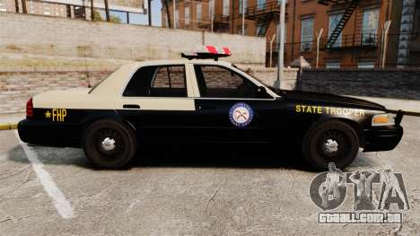 Ford Crown Victoria 1999 Florida Highway Patrol para GTA 4 esquerda vista