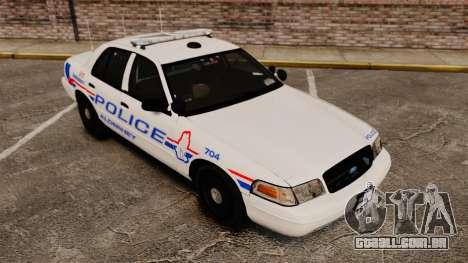 Ford Crown Victoria 2008 LCPD Patrol [ELS] para GTA 4 vista lateral