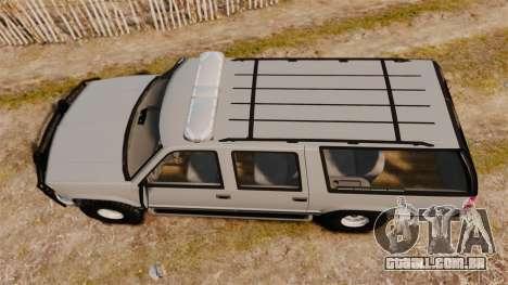 Chevrolet Suburban 1999 Police [ELS] para GTA 4 vista direita