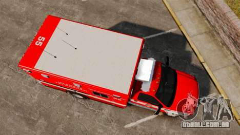 Ford E-350 LAFD Ambulance [ELS] para GTA 4 vista direita