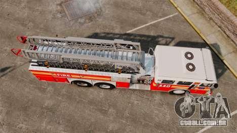 MTL Firetruck MDH1000 Midmount Ladder FDNY [ELS] para GTA 4 vista direita