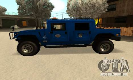 HUMMER H1 para GTA San Andreas esquerda vista