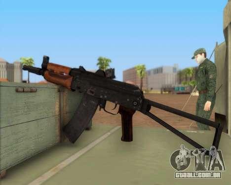AKS-74U para GTA San Andreas terceira tela