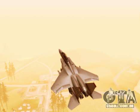 F-15E Strike Eagle para GTA San Andreas vista superior