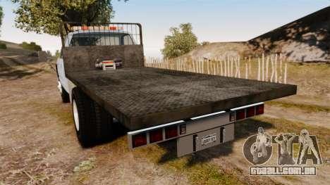 GMC Flatbed [ELS] para GTA 4 traseira esquerda vista