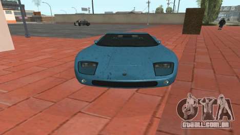 Monroe de GTA 5 para GTA San Andreas traseira esquerda vista