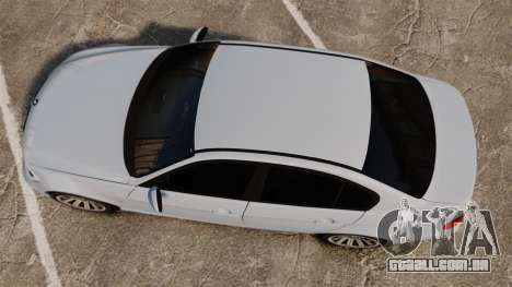 BMW 330i Unmarked Police [ELS] para GTA 4 vista direita