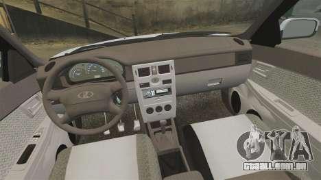 VAZ-2170 Priora para GTA 4 vista superior