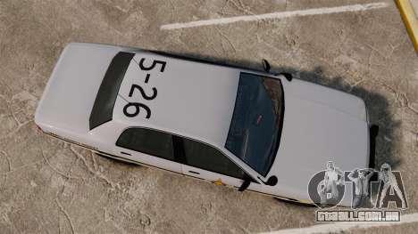 GTA V Vapid Police Cruiser Scheriff [ELS] para GTA 4 vista direita