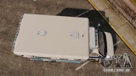 Ford E-350 Liberty Ambulance [ELS] para GTA 4 vista direita