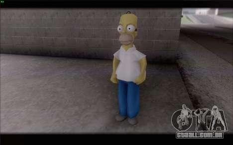 Homer Simpson para GTA San Andreas