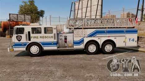 MTL Firetruck MDH1000 Midmount Ladder [ELS] para GTA 4 esquerda vista