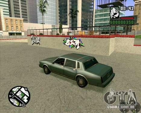 Novo HD Skate Park para GTA San Andreas por diante tela