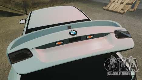 BMW M3 GTS Widebody para GTA 4 vista superior