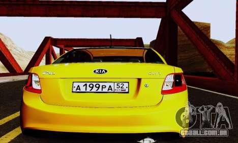 Kia Rio II 2009 para GTA San Andreas vista interior