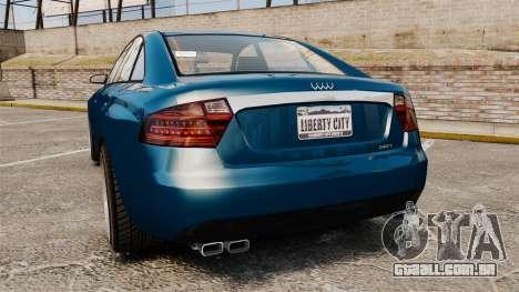 GTA V Tailgater (Michael Car) para GTA 4 traseira esquerda vista