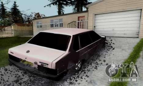 VAZ 21099 Hobo para GTA San Andreas vista traseira